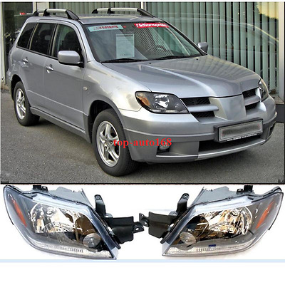 2X FitFor 2003-2005 MITSUBISHI Outlander Front Head lamp Headlights Assembly Set