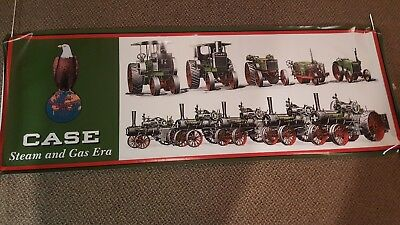 "Vintage J. I. CASE STEAM & GAS ERA  Quality Tractors 60"" Heavy Vinyl Banner Flag"