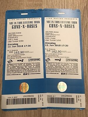 2 Guns 'n' Roses Tickets FOS1 Front of Stage Gelsenkirchen 12.06.2018