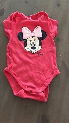 Body Baby Girl Mickey Mouse rot Gr. 68