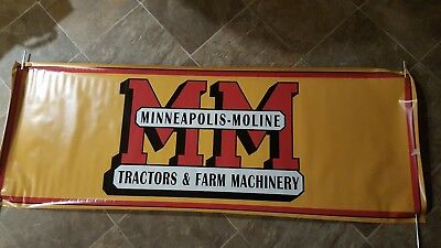 "Vintage MINNEAPOLIS MOLINE  Tractors & Machinery 60"" Heavy Vinyl Banner Flag new"