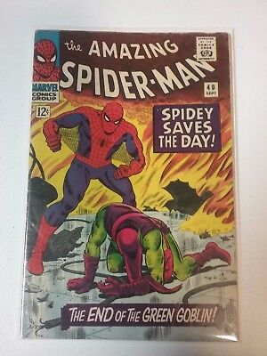 Marvel Comic Amazing Spider-Man #40 Green Goblin Origin