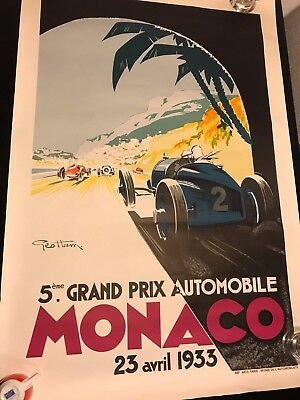 5 Grand Prix Automobile Monaco 23. April 1933 Formel 1 Poster Plakat 68x100cm