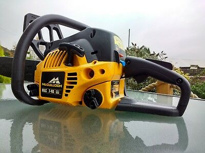 "Mcculloch 740 petrol chainsaw  40cc 16"" - Good condition starts & runs well"