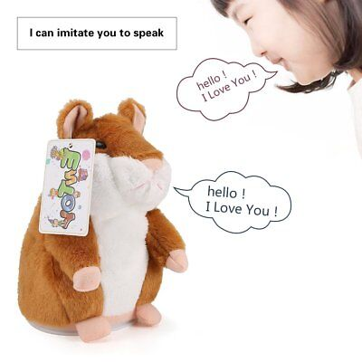 Talking Hamster Electronic Plush Toy Pet Sound Repeating Soft Cute Gift Children