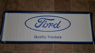 "Vintage Ford Quality Tractors New Series 60"" Heavy Vinyl Banner Flag USA made"