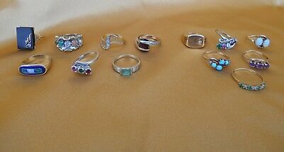 40.8 Grams Of 14K & 10K Gold Rings In Great Cond Diamonds And Gems No Scrap Fine
