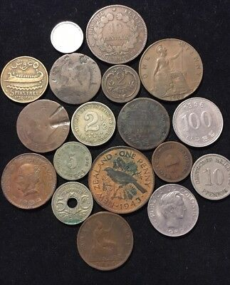 Lot of 18 old vintage Foreign Coins, 1861, 1854, 1893 & More!!!!
