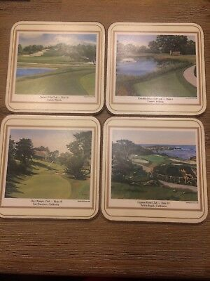 Vintage Golf Coasters Antique Christmas gift golfer