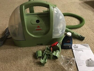 bissell little green machine compact portable carpet cleaner model 1400b new