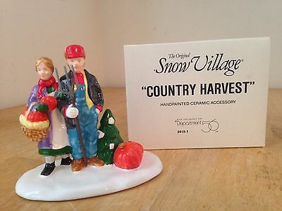 "Department 56 Snow Village ""COUNTRY HARVEST"" Dept 54151 Halloween Accessory NEW!"