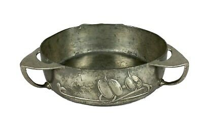 ARCHIBALD KNOX FOR LIBERTY & Co- TUDRIC PEWTER TRI-HANDLED BUTTER DISH BOWL 0162