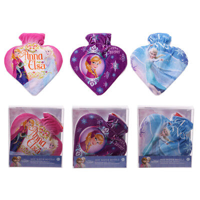 Official Licensed Disney Frozen Heart Shaped Hot Water Bottle & Cover 0.8L