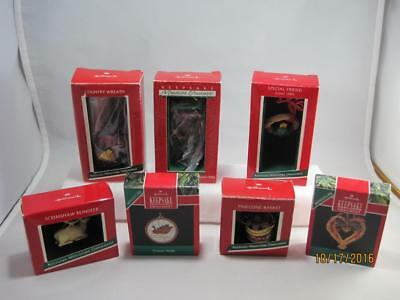 Hallmark Keepsake Miniature Ornaments Country Themed -  Lot of 7 in Boxes