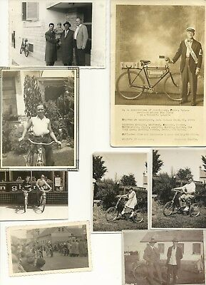 "Vintage 1920's-1940's Photograph Lot of 21 ""Bicycles/Tricycles"""