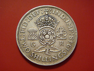 Great Britain Florin, Two Shillings, 1948