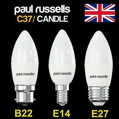 E14 B22 E27 3W 5W 7W LED Candle Bulbs Light Lamp SES BC ES Low Energy Saving