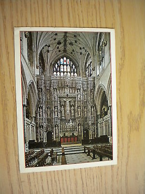 alte AK Winchester Cathedral The Great Screen gelaufen1995