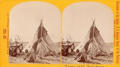 W. H. Jackson  Out West From The F V  Hayden Survey Bannock Indian Encampment