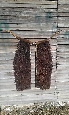 1900's Wooly Western Cowboy Shotgun Style Chaps NO RESERVE!