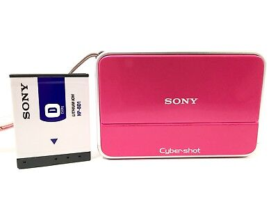 SONY CyberShot DSC-T2 Digital Camera, Pink, Tested