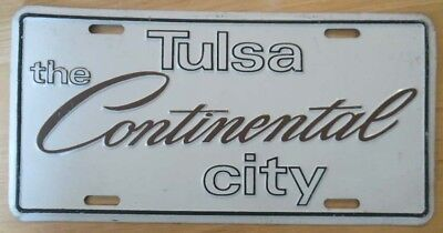 TULSA, the CONTINENTAL City advertising license plate from the 1960's