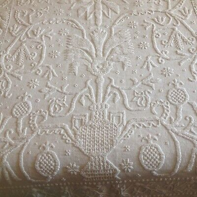 "Antique Candlewick handmade bedspread coverlet 1800's - 90"" BY 103"""