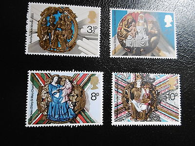 SG966-969 1974 Christmas. Church Roof Bosses. Mint Never Hinged.
