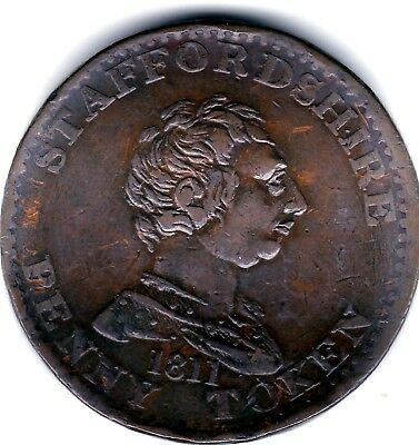 Staffordshire  One  Penny Token 1811