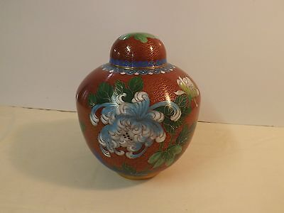 Chinese Cloisonne Decorative Urn