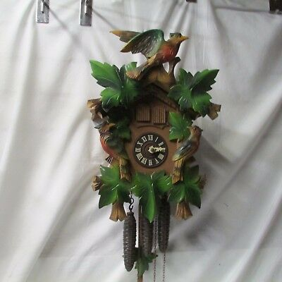 Vintage Bachmaier & Klemmer Musical 3-Weights Cuckoo Clock ~ Germany