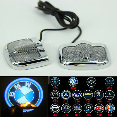 2x Car Door LED Laser Projector Welcome Logo Ghost Shadow Lights Badge Universal