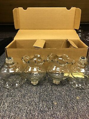 "4 NEW Home Interior Clear CRYSTAL 4""l Votive Cups Homco 1189-1BL"