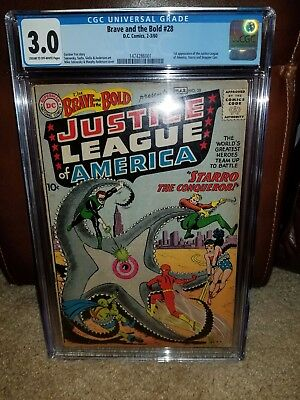 BRAVE AND THE BOLD #28 CGC 3.0, 1st App. of Justice League.DC Comics (1960)