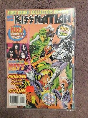 Kiss-Collectors Edition Comic,(Marvel's-Kissnation-First Edition-In Plastic-Nm