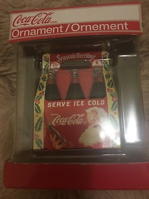 Coca Cola Christmas Ornament Serve Ice Cold 6 Bottles NIB