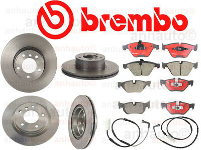 BMW E90 325i 328i 330i Front Disc Brake Pads with Disc Wear Sensor Brembo NEW