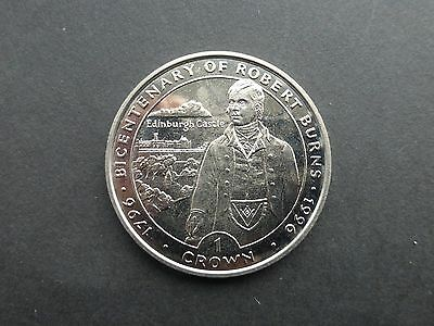 Isle of Man Crown coin 1996 Robert Burns A/UNC   Ref 633   Reduced