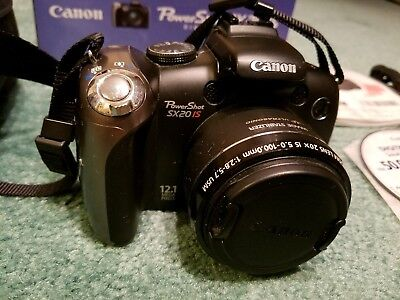 Canon PowerShot SX20 IS 12.1MP Digital Camera - Black
