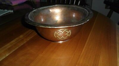 Rare Antique Arts Crafts Silvercrest Decorated Bronze Bowl/planter