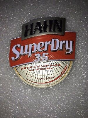 """Collectable """" HAHN"""" SuperDry 3.5 Bar Tap Badge/Medallion"""