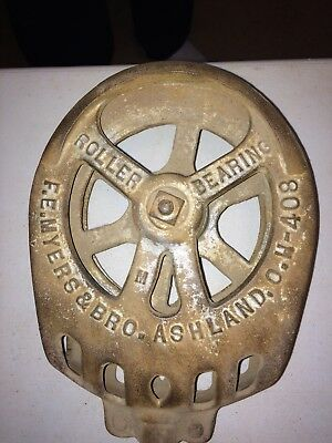 Antique Cast Iron F. E. Myers And Bro. Barn Pulley