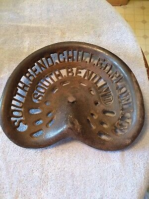 REDUCEDAntique Cast Iron South Bend Chilled Plow Co., South Bend, Ind. Plow Seat