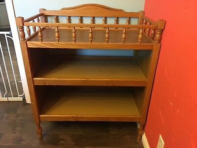 wood changing table, gently used