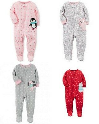 Girls Pajamas Size 2T 3T 4T 5T Footed One piece Christmas New