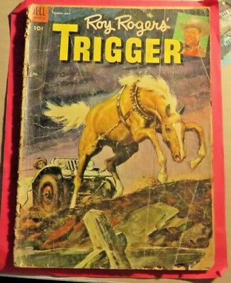 Roy Rogers Trigger #12 Dell Comics Golden age (1954)  CB307