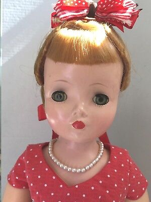 Vintage Madame Alexander Cissy Doll in Designer-made Ensemble.