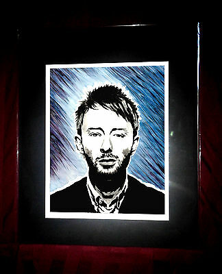 Radiohead Thom Yorke - Matted Rock Art Print / Poster - ok computer / the bends
