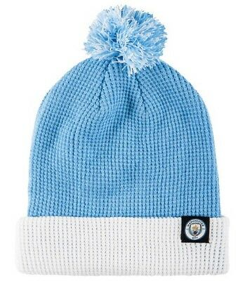 8acb4275699 Nike Manchester City Pom Beanie Hat 881701-488 Field Blue White One Size New