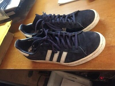 huge discount 0e093 98d79 ADIDAS Campus 80s Horsehair Snakeskin Stripes G97269 Mens 10.5 Blue Leather